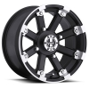 Vision 393 Lock Out 15X8 Matte Black with Machine Face
