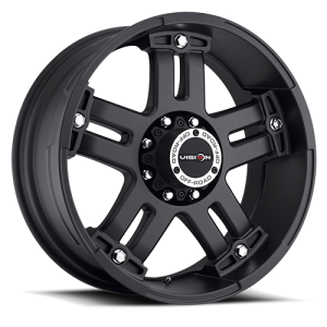 Vision 394 Warlord Matte Black with Chrome Bolts