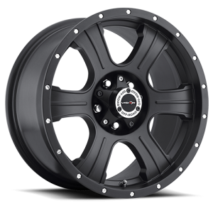 Vision 396 Assassin Matte Black with Chrome Rivets