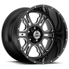 Vision 397 Rage Gloss Black with Milled Spoke V2