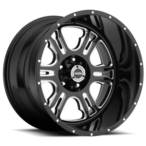 Vision 397 Rage Gloss Black with Milled Spoke V2