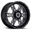 Vision 397 Rage Gloss Black with Milled Spoke