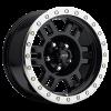 Vision 398 Manx 17X8.50 Gloss Black with Machine Lip and Zinc Bolts