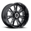 Vision 399 Fury Gloss Black with Milled Spoke V2