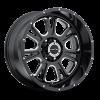 Vision 399 Fury Gloss Black with Milled Spoke V2