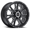 Vision 399 Fury Gloss Black with Milled Spoke