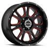 Vision 399 Fury Gloss Black with Red Tint on Windows