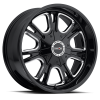 Vision 3992 Storm Matte Black with Milled Spokes