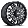 Vision 401 Rival 20X8.25 Gloss Black with Machined Face