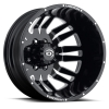 Vision 401 Rival 20X8.25 Gloss Black with Machined Face V2