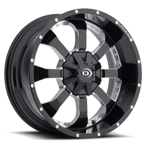 Vision 420 Locker Gloss Black Milled Spokes
