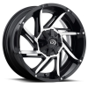 Vision 422 Prowler 17X9 Gloss Black Machined Face