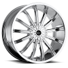 Vision 456 XTACY 22X9.5 Chrome