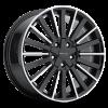 Vision 466 Conduit 17X8 Gloss Black Machined