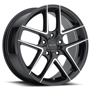 Vision 467 Mantis 17X8 Gloss Black Machined