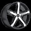 Vision 468 16X7.50 Gloss Black Machined