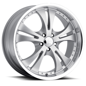 Vision 539 Shockwave 17X7 Silver with Machined Lip