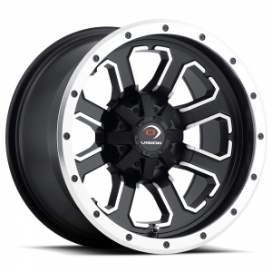 Vision 548 Commander 12X8 Matte Black with Machined Face