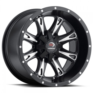 Vision 549 Sniper 12X8 Matte Black with Milled Face