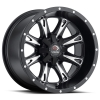 Vision 549 Sniper 14X8 Matte Black with Milled Face