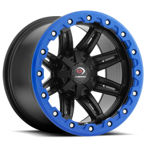 Vision 551 Five Five One 14X8 Matte Black w/ Blue Lip Armor