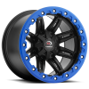 Vision 551 Five Five One 14X8 Matte Black w- Blue Lip Armor