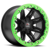 Vision 551 Five Five One 14X8 Matte Black w- Green Lip Armor