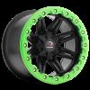 Vision 551 Five Five One Matte Black w- Green Lip Armor
