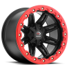 Vision 551 Five Five One 14X8 Matte Black w- Red Lip Armor