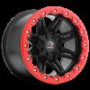 Vision 551 Five Five One Matte Black w- Red Lip Armor