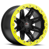 Vision 551 Five Five One 14X8 Matte Black w- Yellow Lip Armor