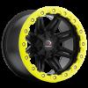 Vision 551 Five Five One Matte Black w- Yellow Lip Armor