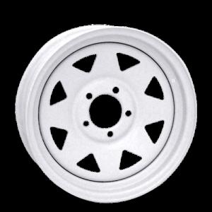 Vision 70 8 Spoke 15X5 White