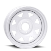 Vision 70 8 Spoke 16X6 White