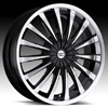 Vision Shattered Type 454 Gloss Black Machined 18 X 7.5 Inch Wheels