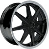 Vision 378 Kryptonite Black 15 X 6.5 Inch Wheels