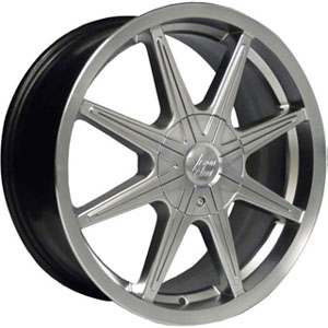 Vision 378 Kryptonite Silver 16 X 7 Inch Wheels