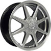 Vision 378 Kryptonite Silver 17 X 7 Inch Wheels