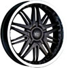 Vision 381 Avenger Black 17 X 7 Inch Wheels