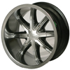 Vision 438 Sahara Black 14 X 7 Inch Wheels