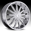 Vision Xtacy Type 456 Chrome 24 X 9.5 Inch Wheels