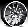 Vision Xtacy Type 456 Gloss Black Machined 24 X 9.5 Inch Wheels