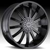 Vision Xtacy Type 456 Phantom Black 22 X 9.5 Inch Wheels