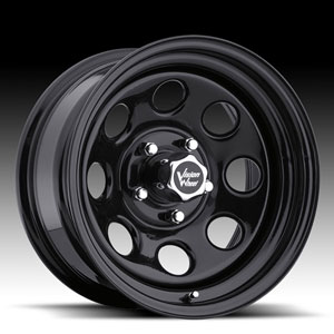 Vision 84 D Window Black 16 X 8 Inch Wheels