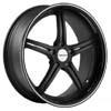 Vossen VVS 087 Matte Black Machined W Gloss Lip Wheel Packages
