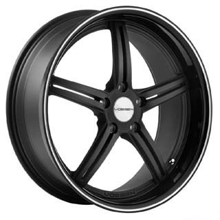 Vossen VVS 087 Matte Black Machined W Gloss Lip Wheel Packages