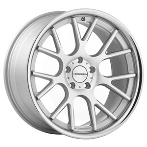 Vossen VVSCV2 Matte Silver Machined Face Stainless Lip Wheel Packages