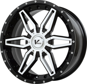 V-Rock Axial Gloss Black Paint with Machined Spoke Hub