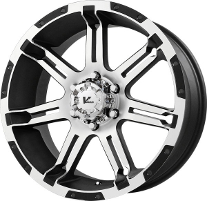 V-Rock OverDrive 17X9 Matte Black and Machined Spokes and Lip