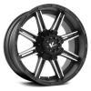 V-Rock Reactor  20X9 Matte Black with Machined Face